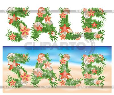 Sommer tropische Verkauf Banner | Illustration mit hoher Auflösung |ID 3304633