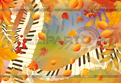 Musical autumn card | Stock Vector Graphics |ID 3352659