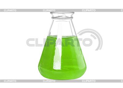 Reagenzglas mit grüner chemischen Flüssigkeit | Foto mit hoher Auflösung |ID 3316431