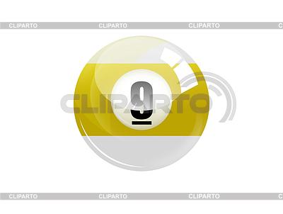 Numer dziewięć kula bilardowa | Stockowa ilustracja wysokiej rozdzielczości |ID 3316568