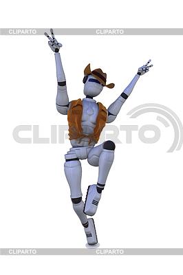 Robot cow-boy | Stockowa ilustracja wysokiej rozdzielczości |ID 3358368