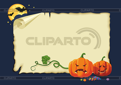 Halloween card, no gradients | Stock Vector Graphics |ID 3338137