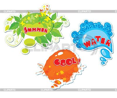 Set von Sommer-Sprechblasen | Stock Vektorgrafik |ID 3338992