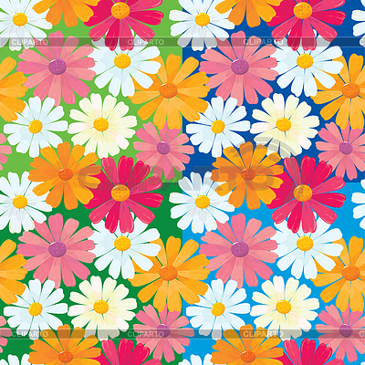Seamless texture of daisy flowers   Stock Vector Graphics  ID 3340657