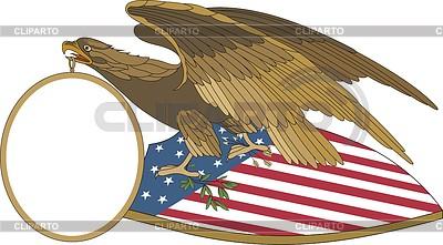 美国鹰盾   向量插图  ID 3352349