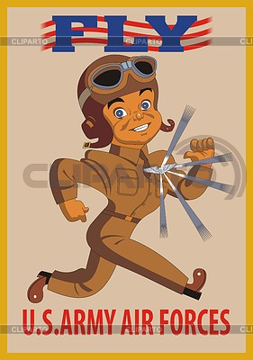 Fly - the USAF poster | Stock Vector Graphics |ID 3352361