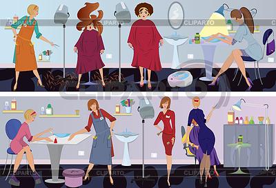 Beauty salon banner hair cut   High resolution stock illustration  ID 3345663