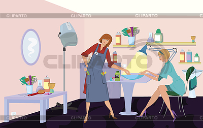 Beauty salon client is getting manicure | High resolution stock illustration |ID 3345669