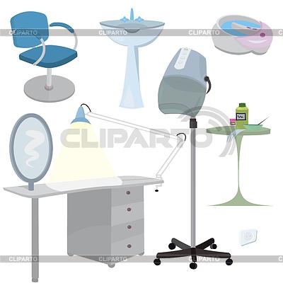 Schönheitssalon Möbel Icon Set | Illustration mit hoher Auflösung |ID 3345683
