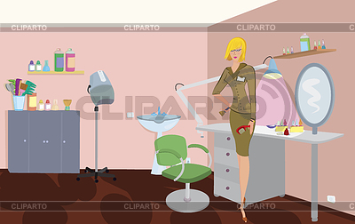 Beauty salon professional with comb and brush is | High resolution stock illustration |ID 3345690