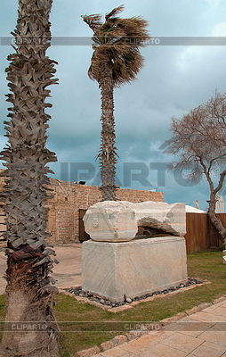 Ruins of ancient Romanian harbor, Caesarea, Israel  | High resolution stock photo |ID 3348537
