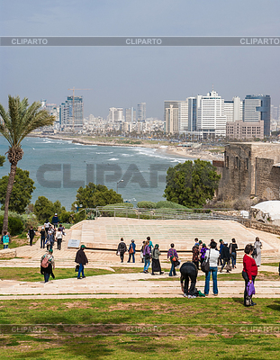 Tel-Aviv beach panorama. Jaffa. Israel | High resolution stock photo |ID 3349048
