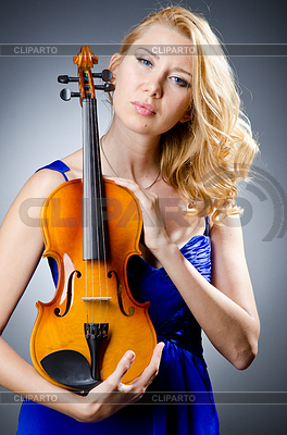 Woman with violin | High resolution stock photo |ID 3351511