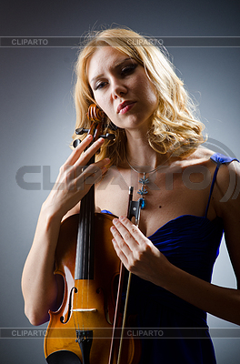 Woman with violin | High resolution stock photo |ID 3351512