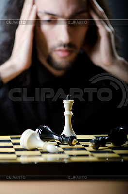 Chess player playing his game   High resolution stock photo  ID 3351690