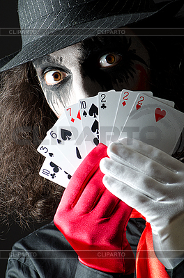Joker with cards shoot   High resolution stock photo  ID 3351714