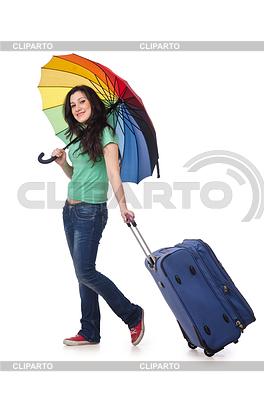 女孩准备她的暑假 | 高分辨率照片 |ID 3351869