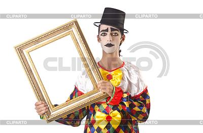 Sad clown on white | High resolution stock photo |ID 3368498