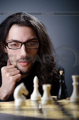 Chess player playing his game   High resolution stock photo  ID 3368617