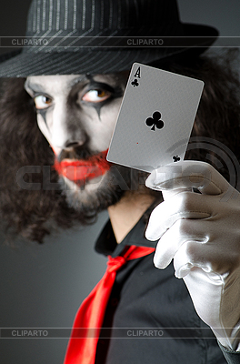 Joker with playing cards | High resolution stock photo |ID 3368641