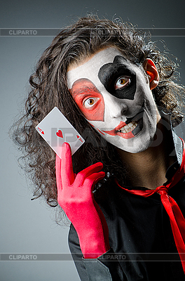 Joker with face mask | High resolution stock photo |ID 3368751