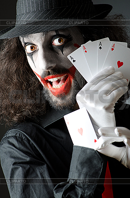 Joker with cards shoot | High resolution stock photo |ID 3373745