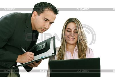 一个男人和女人的业务团队在他们的公司办公室   高分辨率照片  ID 3357014
