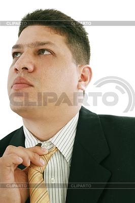 Business-Mann Festsetzung seiner Krawatte | Foto mit hoher Auflösung |ID 3358262