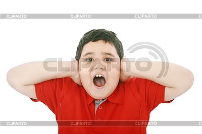 Horizontal young boy yelling   High resolution stock photo  ID 3358866