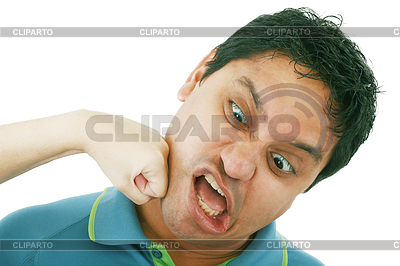 Young woman punching young man | High resolution stock photo |ID 3359089