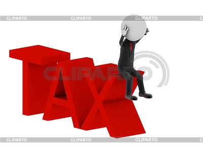 Tax. 3d human character | Stockowa ilustracja wysokiej rozdzielczości |ID 3360973