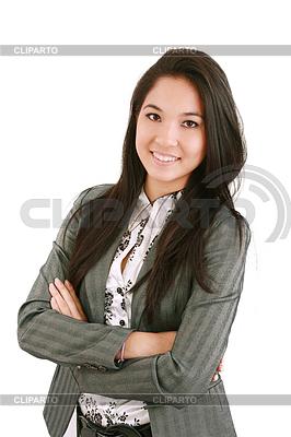 행복 젊은 비즈니스 여자 서   높은 해상도 사진  ID 3361337