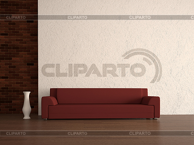 Red sofa | High resolution stock illustration |ID 3370149