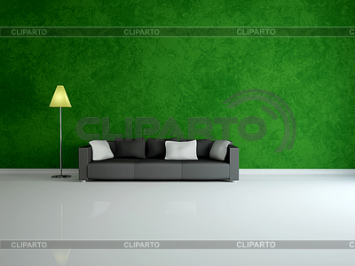White sofa and lamp | High resolution stock illustration |ID 3370854