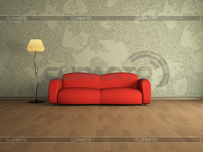Red sofa | High resolution stock illustration |ID 3370871