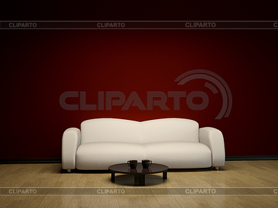 Interior with sofa and table | High resolution stock illustration |ID 3371577
