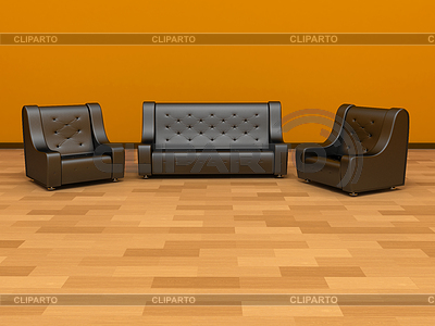 Sofa and two armchairs | High resolution stock illustration |ID 3382619