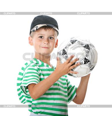男孩抱着足球 | 高分辨率照片 |ID 3371718
