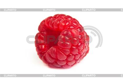 Single fresh raspberry, on white. macro shot | High resolution stock photo |ID 3375150