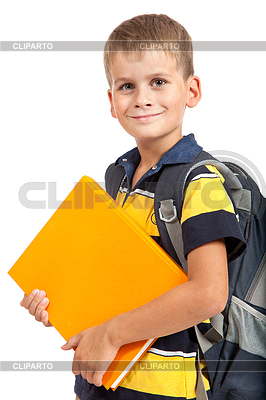 Boy holding books. Back to school | High resolution stock photo |ID 3377588