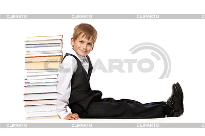 Boy and books. Back to school | High resolution stock photo |ID 3377598