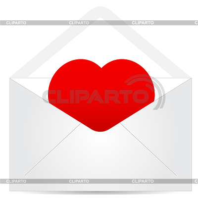 붉은 마음 봉투 | 벡터 클립 아트 |ID 3372937