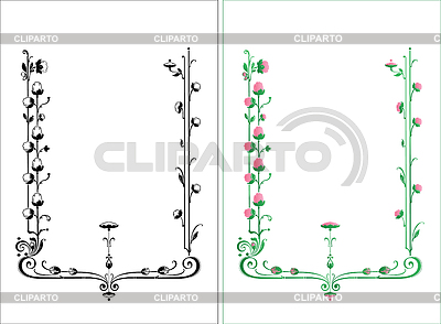 Vintage floral  frame | 向量插图 |ID 3374080