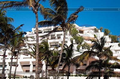 Hotel on beach | High resolution stock photo |ID 3379400
