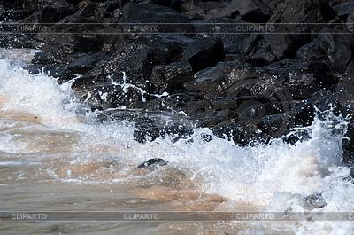 Waves Hitting Rocks | High resolution stock photo |ID 3379402