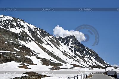 Snowy mountain pass   High resolution stock photo  ID 3380731