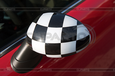 Checkered Exterior Side View Mirror   High resolution stock photo  ID 3380944